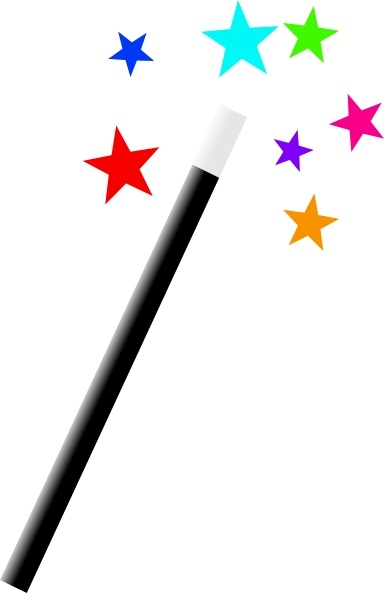 Clip art vector in. Free clipart images magic wand
