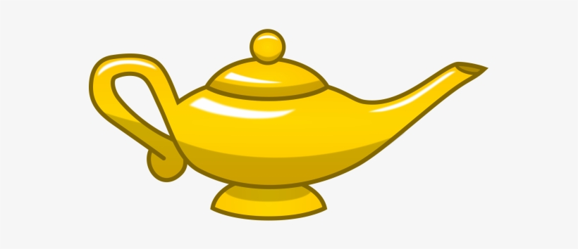 Clipart genie lamp vector royalty free Gold Magic Lamp - Genie Lamp Clipart Png - 600x300 PNG Download - PNGkit vector royalty free