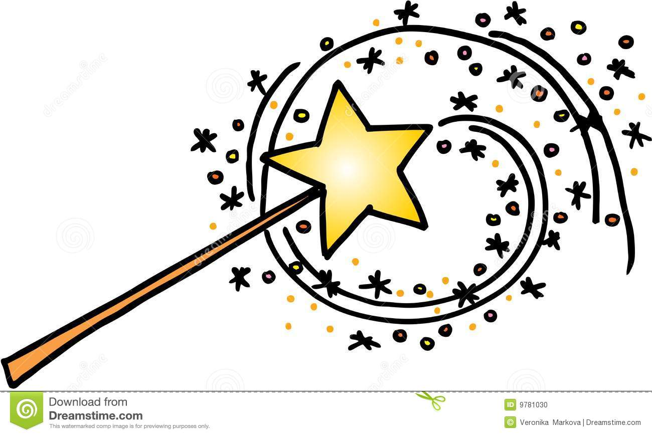 Clipart magic wand freeuse stock magic-wand-with-a-trail-of-stars-vector-image-on-white-background ... freeuse stock
