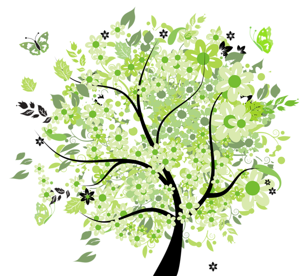Clipart magnolia tree svg freeuse PNG Spring Tree Transparent Spring Tree.PNG Images. | PlusPNG svg freeuse