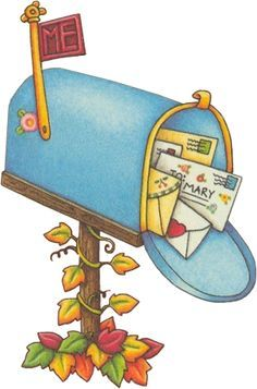 Mailbox clipart graphic black and white library Free Mailbox Clipart Pictures - Clipartix | Mary Engelbreit | Mary ... graphic black and white library