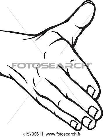 Clipart main ouverte picture black and white download Clipart - main ouverte k15793611 - Recherchez des Clip Arts, des ... picture black and white download