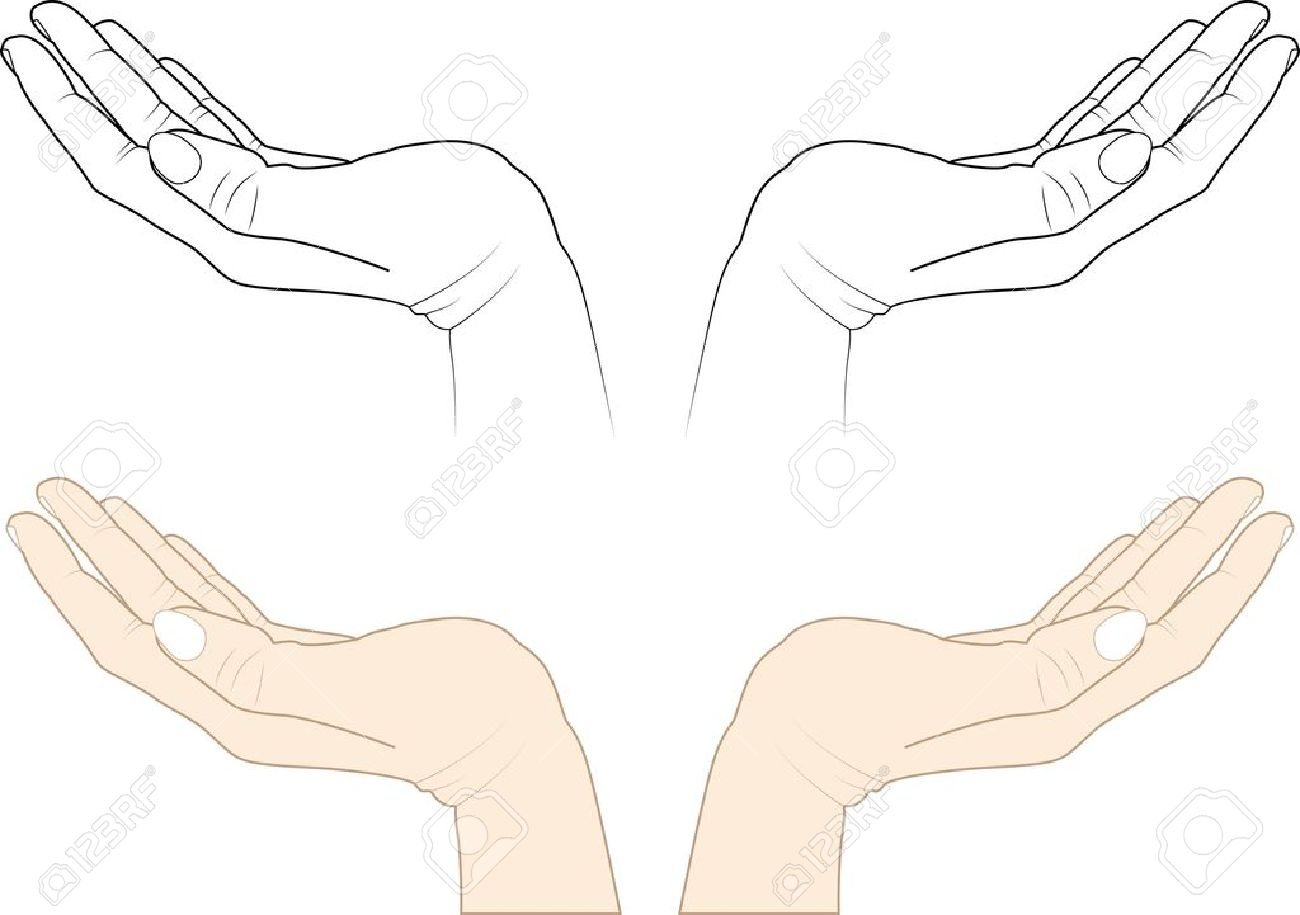 Clipart main ouverte png black and white 7,611 The Hand Of The Nails Stock Illustrations, Cliparts And ... png black and white