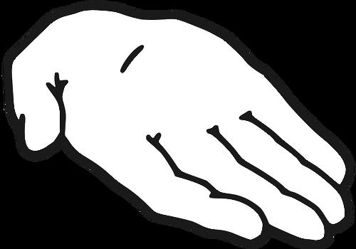 Clipart main tendue