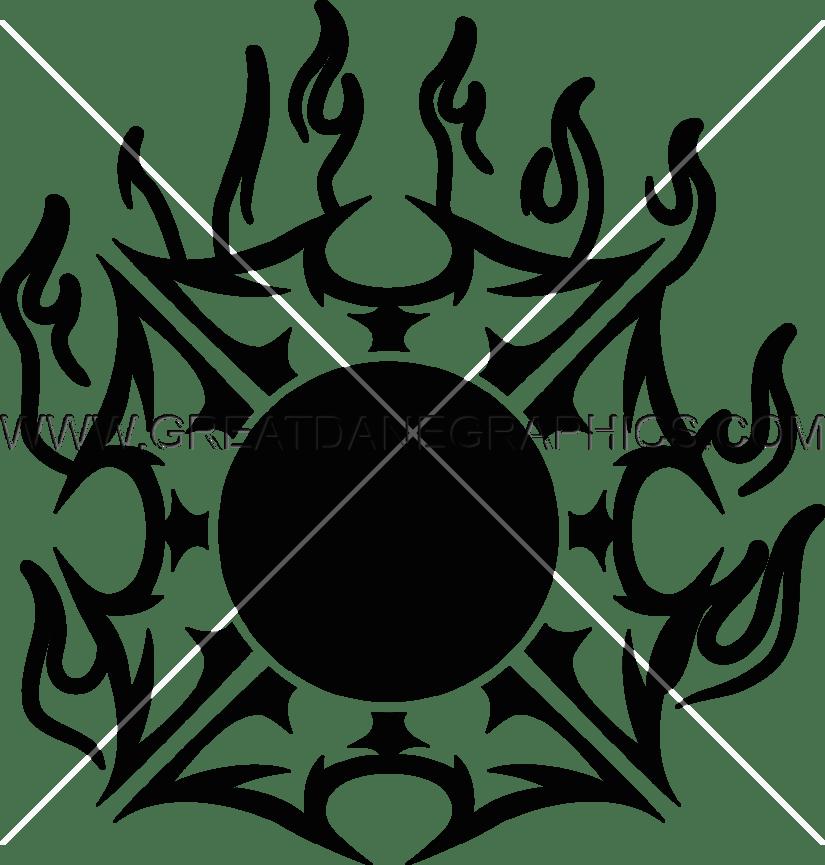Clipart maltese cross svg black and white Fire Maltese Cross | Production Ready Artwork for T-Shirt Printing svg black and white