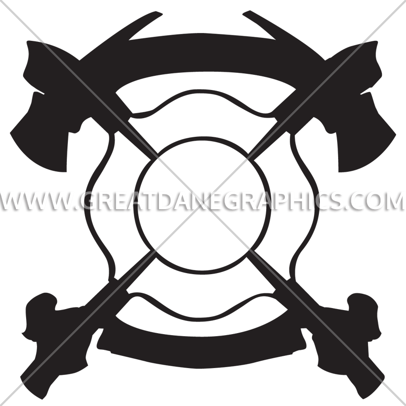 Clipart maltese cross clipart library library Maltese Cross With Axes | Production Ready Artwork for T-Shirt Printing clipart library library