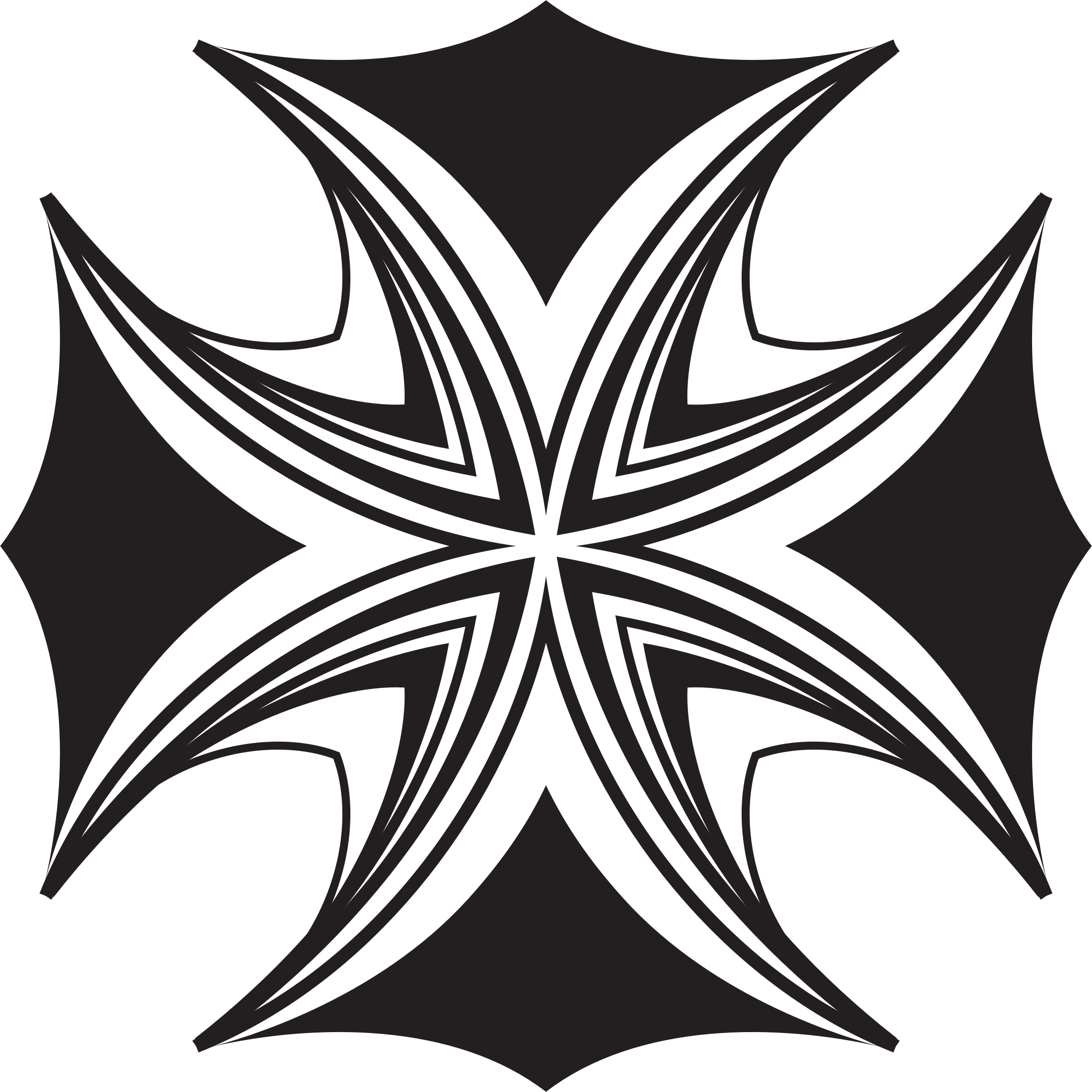 Free clipart maltese cross banner black and white library Clipart - Maltese Cross Mark II banner black and white library