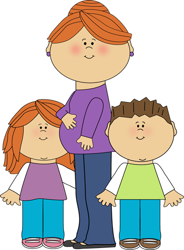 Pregnant mom kid with. Clipart mama