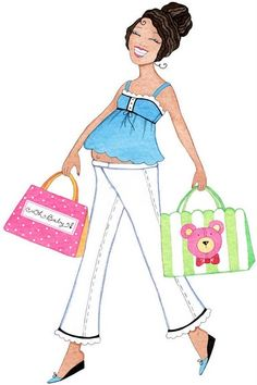 Clipart mama baby girl. Clipartfox embarazadas para shower