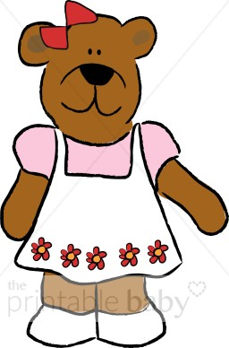 Clipart mama baby girl graphic royalty free download Girl teddy bears clipart - ClipartFest graphic royalty free download