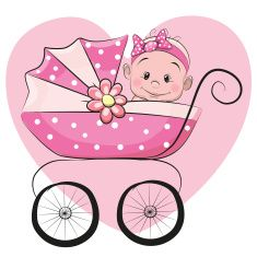 Clipartfox cute cartoon vector. Clipart mama baby girl