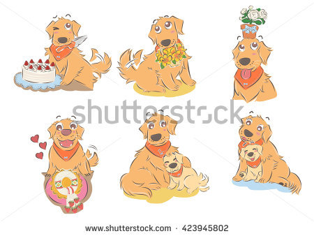 Clipart mama papa image library stock Mother Dog And Puppies Stock Images, Royalty-Free Images & Vectors ... image library stock