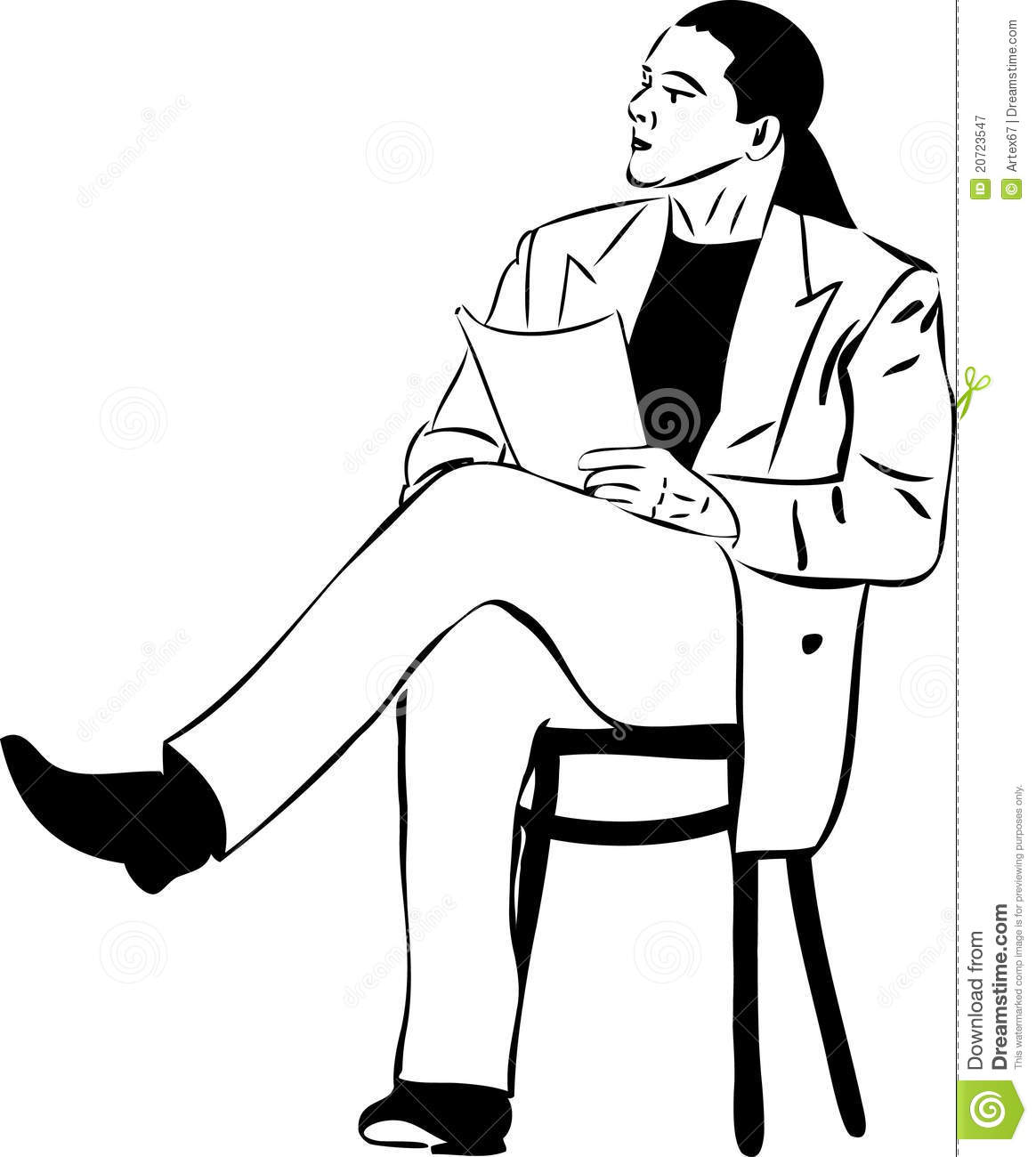 Clipart man in chair reading book picture free download Clipart man sitting in chair - ClipartFest picture free download