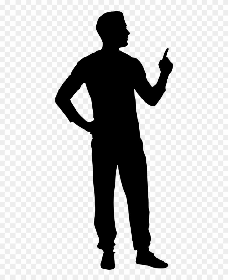 Black silhouette clipart jpg free download Man Pointing Black Silhouette Clipart (#821078) - PinClipart jpg free download