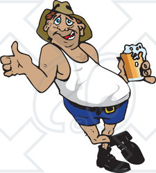 Clipart man with big belly graphic library Beer Belly Clipart - Clipart Kid graphic library