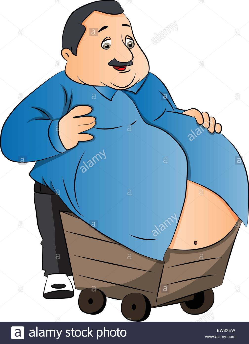 Clipart man with big belly graphic Obese Man Stock Vector Images - Alamy graphic
