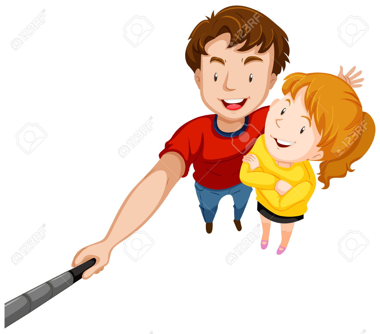 Clipart man with big smile jpg transparent library Man And Woman With Big Smile Illustration Royalty Free Cliparts ... jpg transparent library