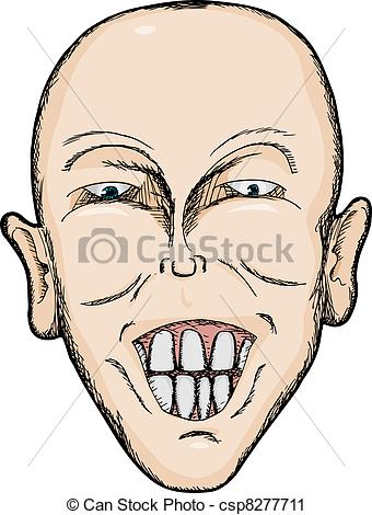 Clipart man with big smile picture free Vector Clip Art of Big Smile - Caricature of bald Caucasian man ... picture free