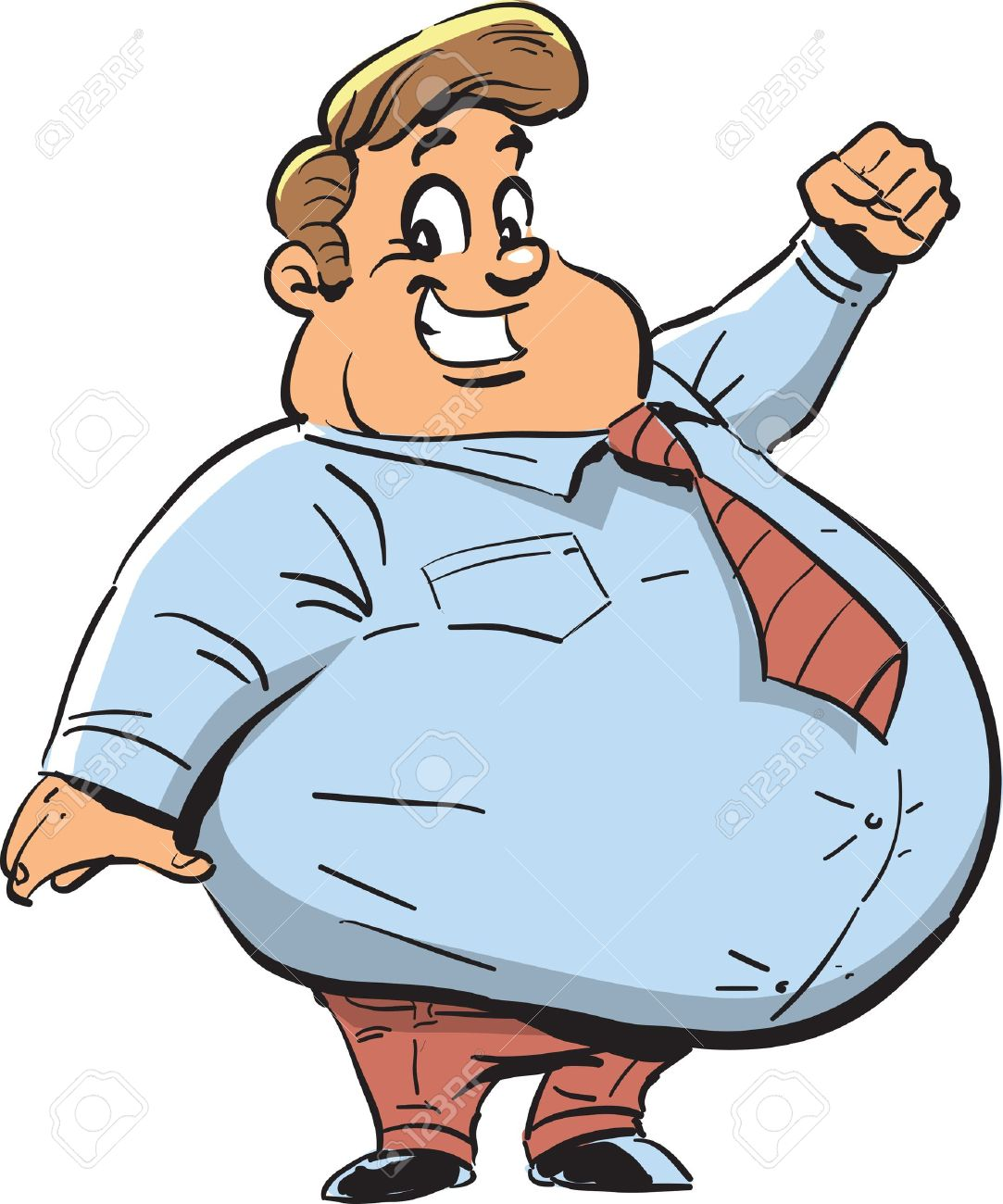 Clipart man with big smile clipart freeuse library Happy Fat Man With Big Smile Royalty Free Cliparts, Vectors, And ... clipart freeuse library
