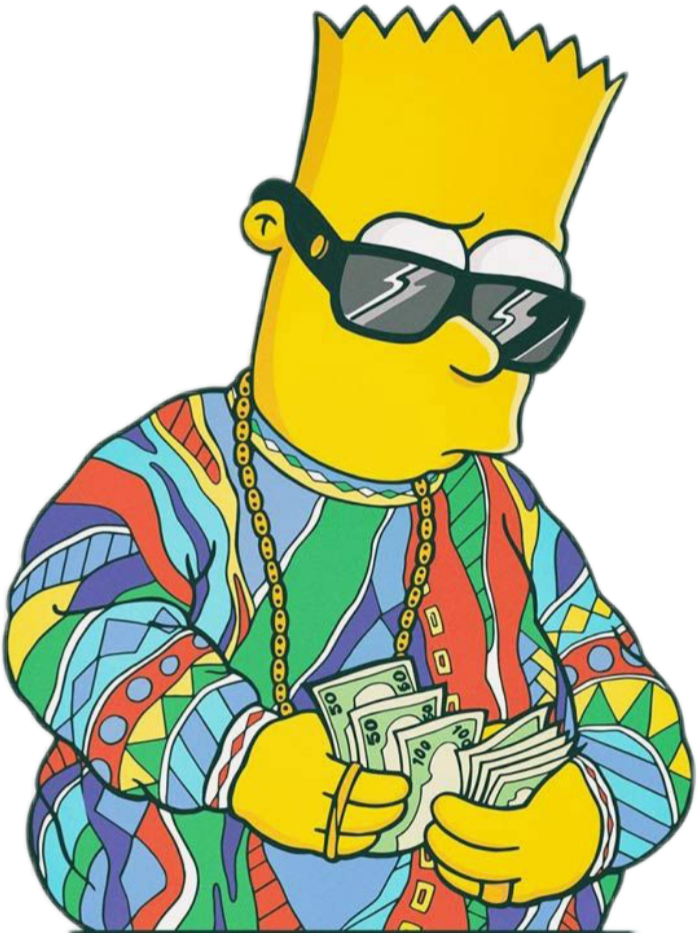 People with money clipart clipart library stock bart simpsons notorius big money dollars... clipart library stock