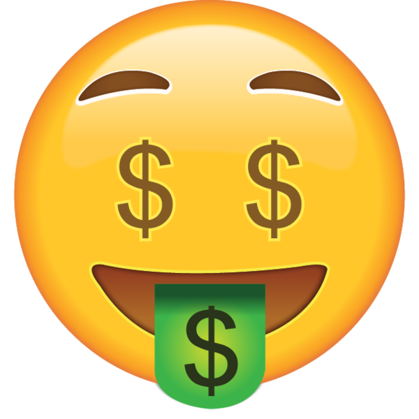 Clipart man with money eyes banner library download Got money on your mind? This emoji does, too, as well as on his eyes ... banner library download