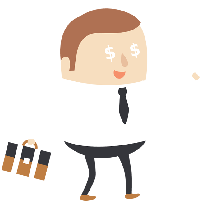 Clipart man with money eyes banner freeuse library Businessman Greedy with Money Eyes | 1designshop banner freeuse library