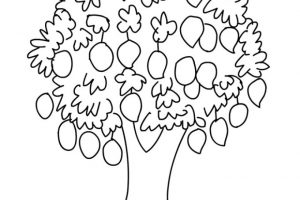 Clipart mangoes on tree black and white graphic download Mario clipart black and white 3 » Clipart Station graphic download