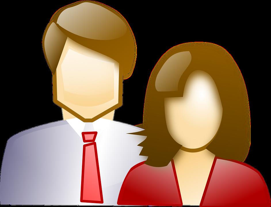 Clipart mann und frau clip free download Kostenlose Vektorgrafik: Paar, Menschen, Mann Und Frau ... clip free download