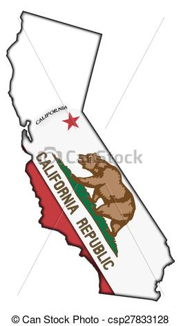 Clipart map of california graphic freeuse stock Vector Illustration of California Flag In Map - A California flag ... graphic freeuse stock
