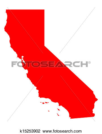 Clipart map of california graphic free Clipart of Map of California k15253902 - Search Clip Art ... graphic free