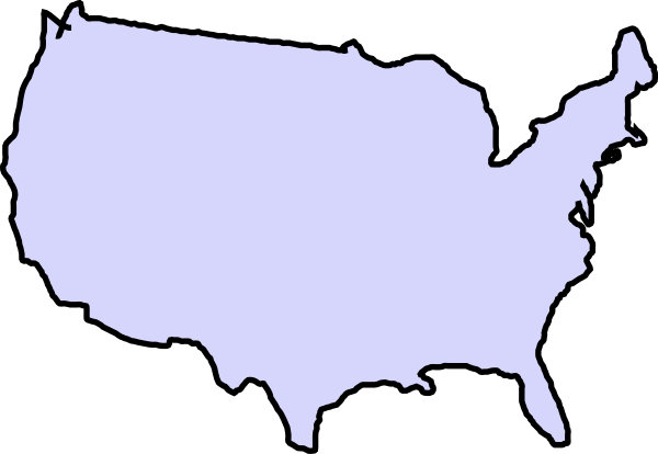 Clipart map of the united states clip art free stock Usa clipart map - ClipartFox clip art free stock