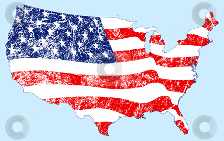United States Map with Flag and Grunge stock vector png free stock