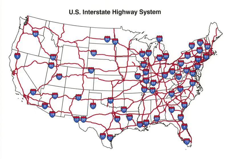 Clipart map of united states with interstates freeuse library us interstate map | Map of the World freeuse library