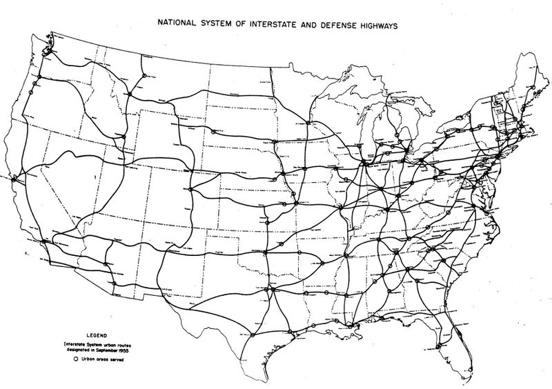 Clipart map of united states with interstates graphic black and white download Maps Update #975660: Map Usa Interstate Highways – United States ... graphic black and white download