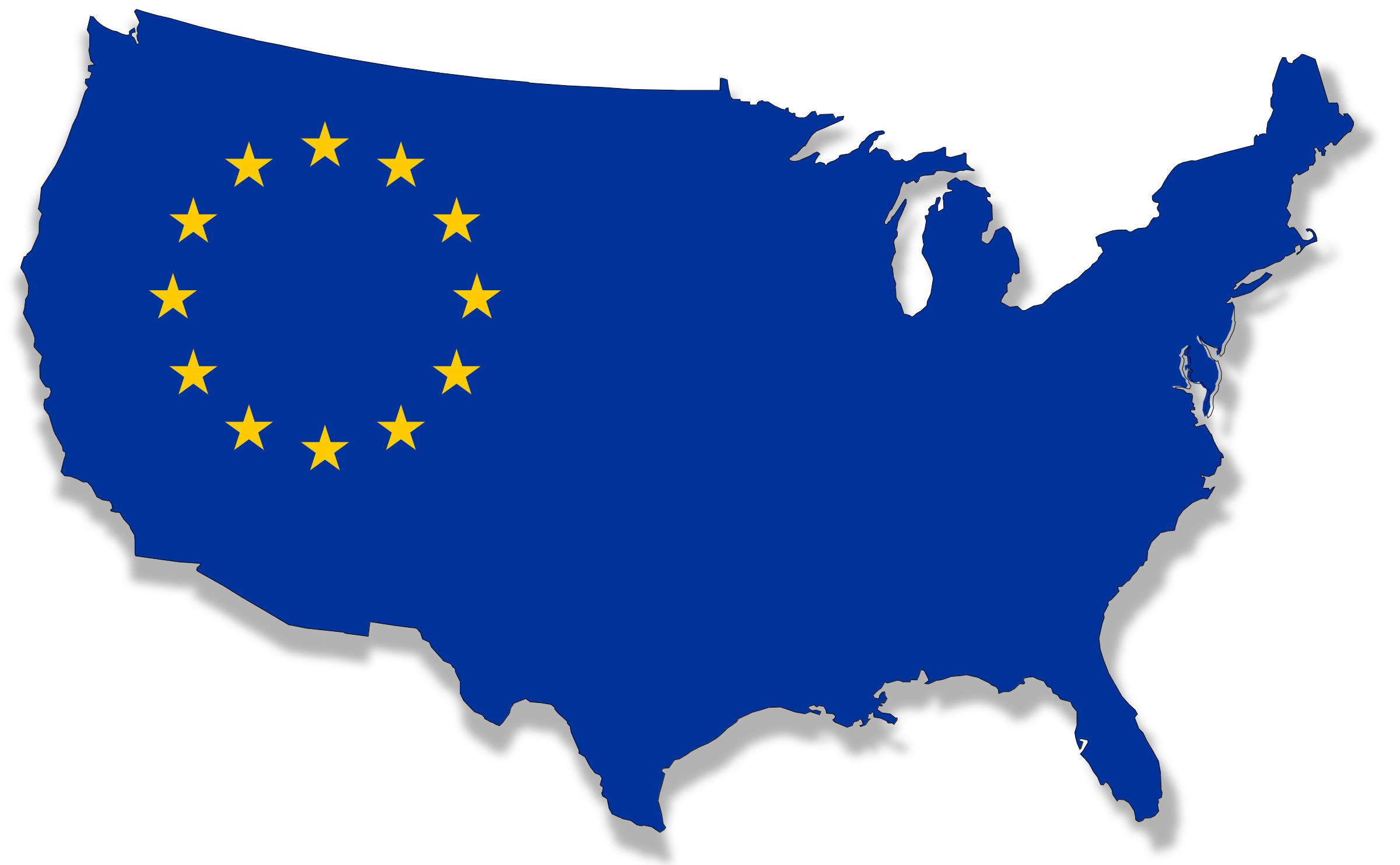 Clipart u s map svg free Clipart - US-Europe flag map svg free