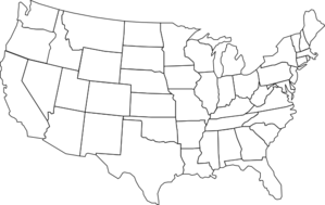 Library of image transparent map of us states png files ...