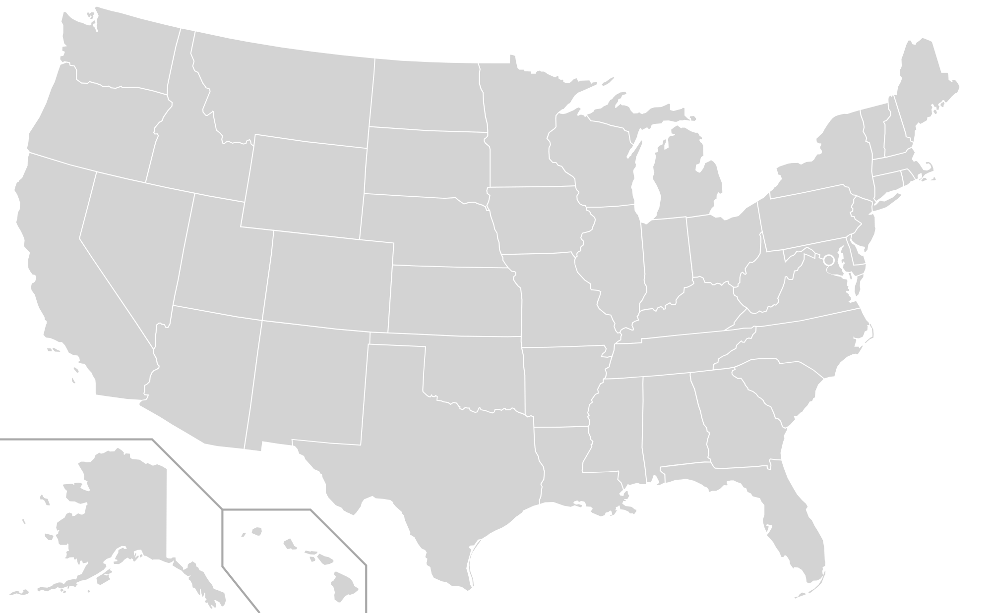 Us map clipart black vector free stock File:Blank US Map (states only).svg - Wikimedia Commons vector free stock