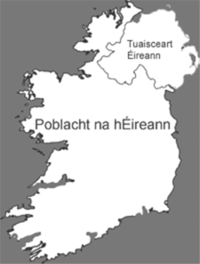 Clipart maps of ireland in public domain image black and white stock Map Of Ireland Political Clip Art at Clker.com - vector clip art ... image black and white stock