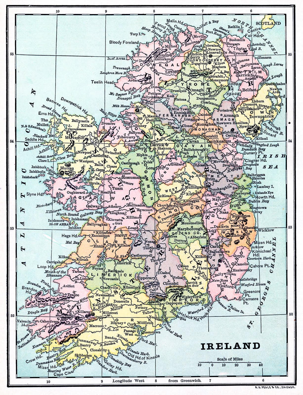 Clipart maps of ireland in public domain picture free Instant Art Printable - Map of Ireland - The Graphics Fairy picture free