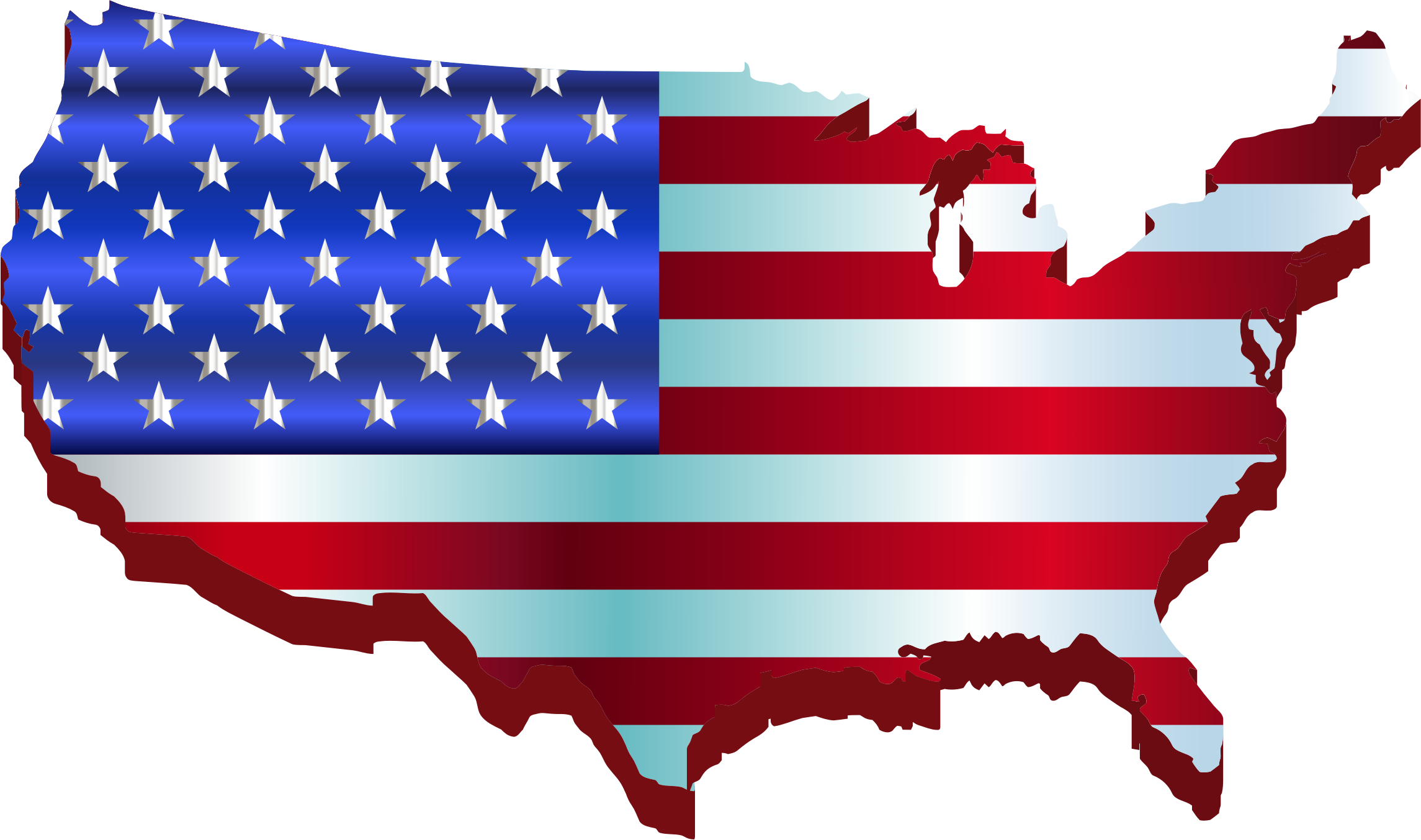 Clipart maps of states picture freeuse download Clipart 3D America Map Flag Enhanced Within Of With - arabcooking.me picture freeuse download