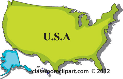 Clipart maps of states. Clipartfest us map united