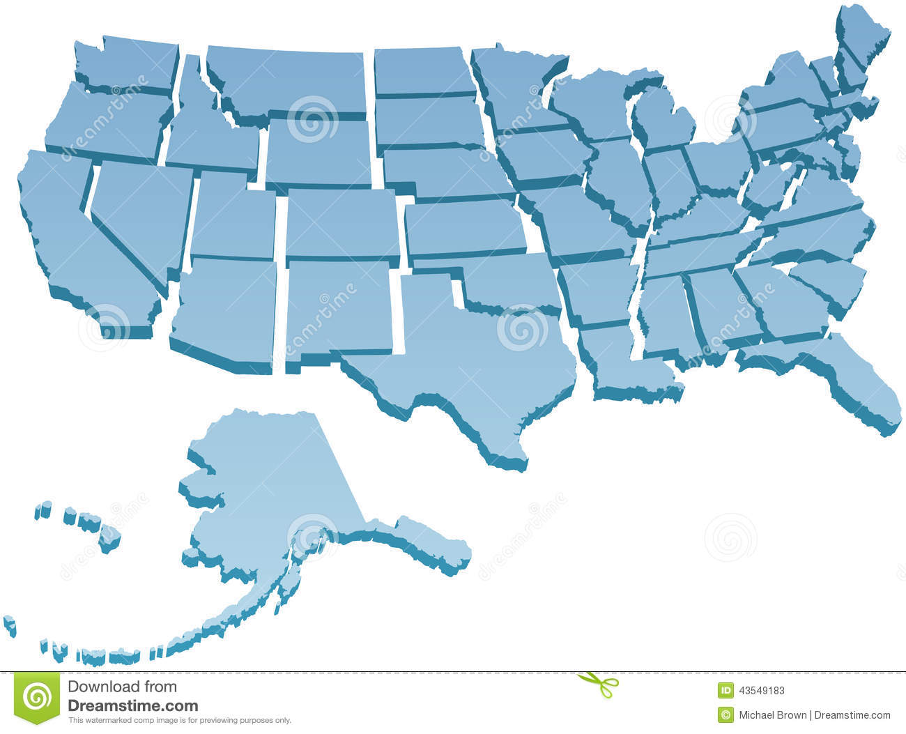 Clipart maps of states. Individual united kid map
