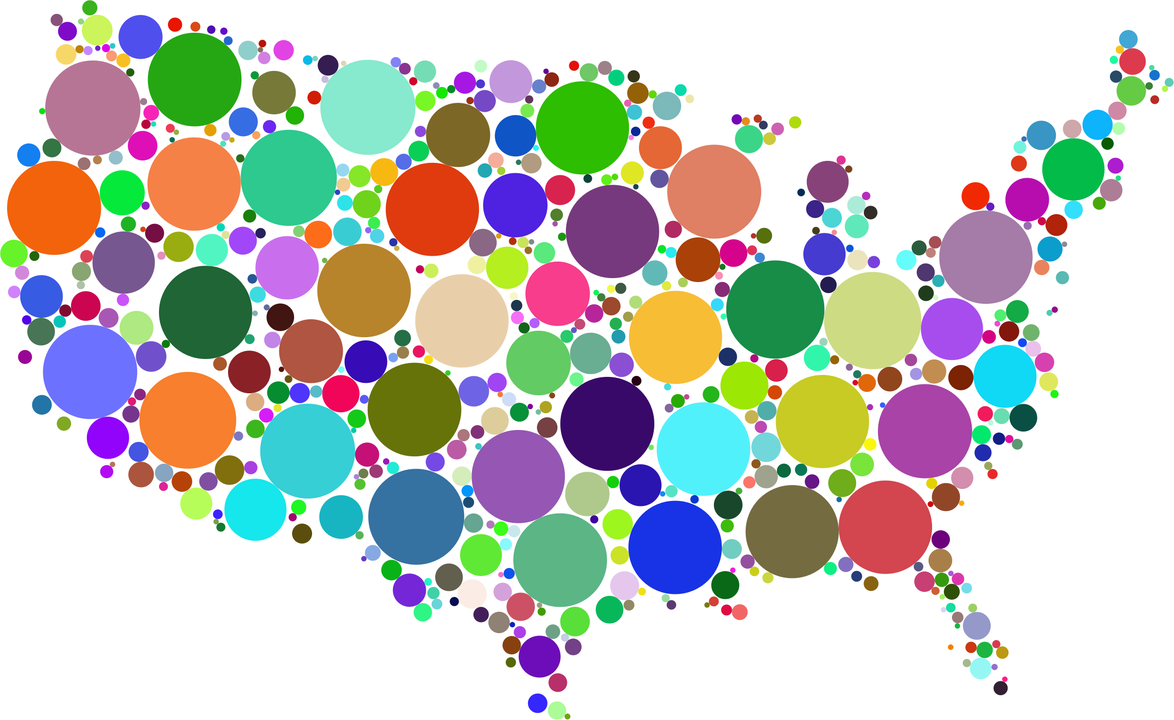 Clipart maps of the united states. Prismatic map circles