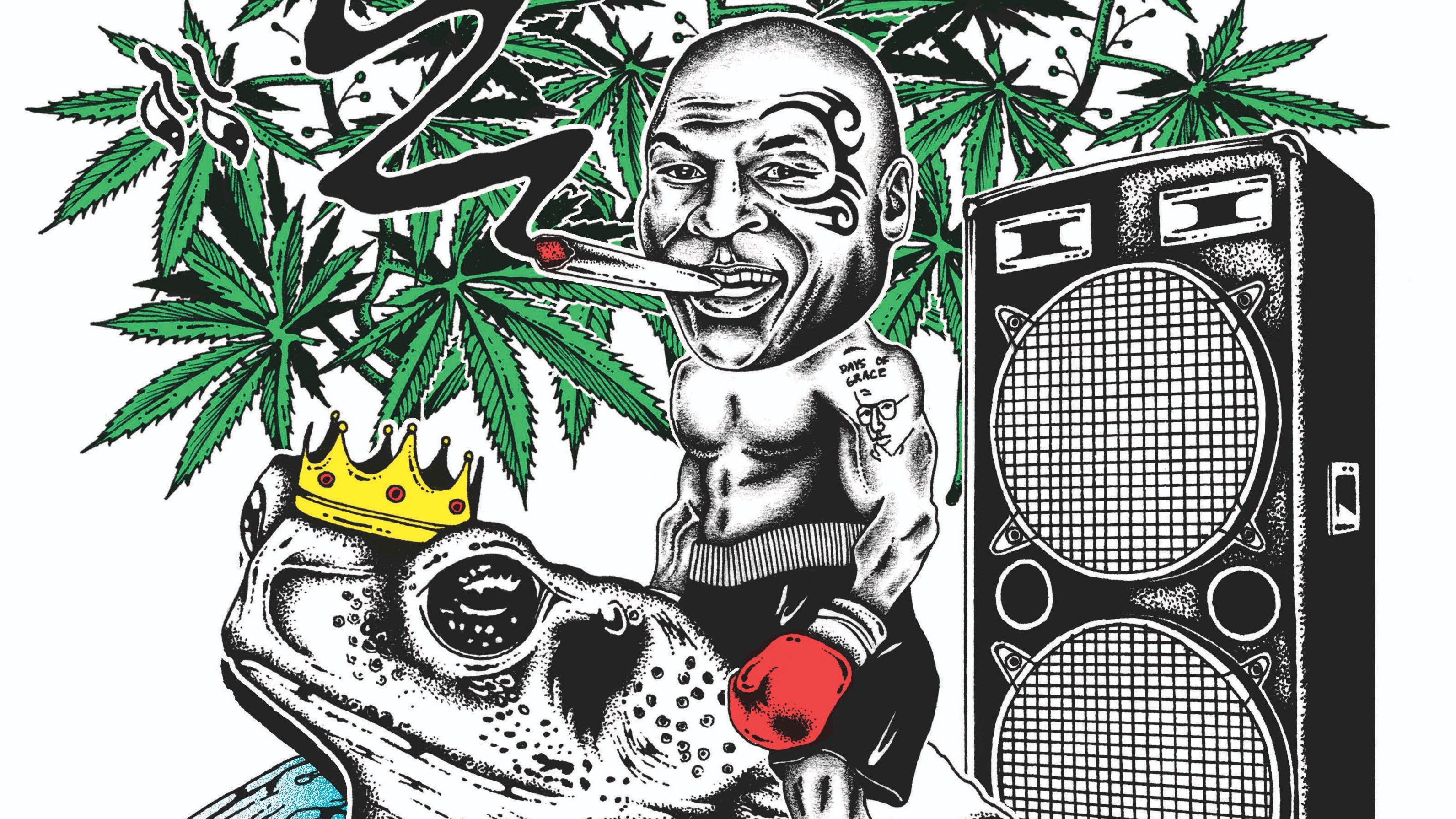 Clipart marajuana in an outdoor garden setting with hills svg black and white Mike Tyson\'s Weed Resort: The Former Champ Smokes the Toad | GQ svg black and white