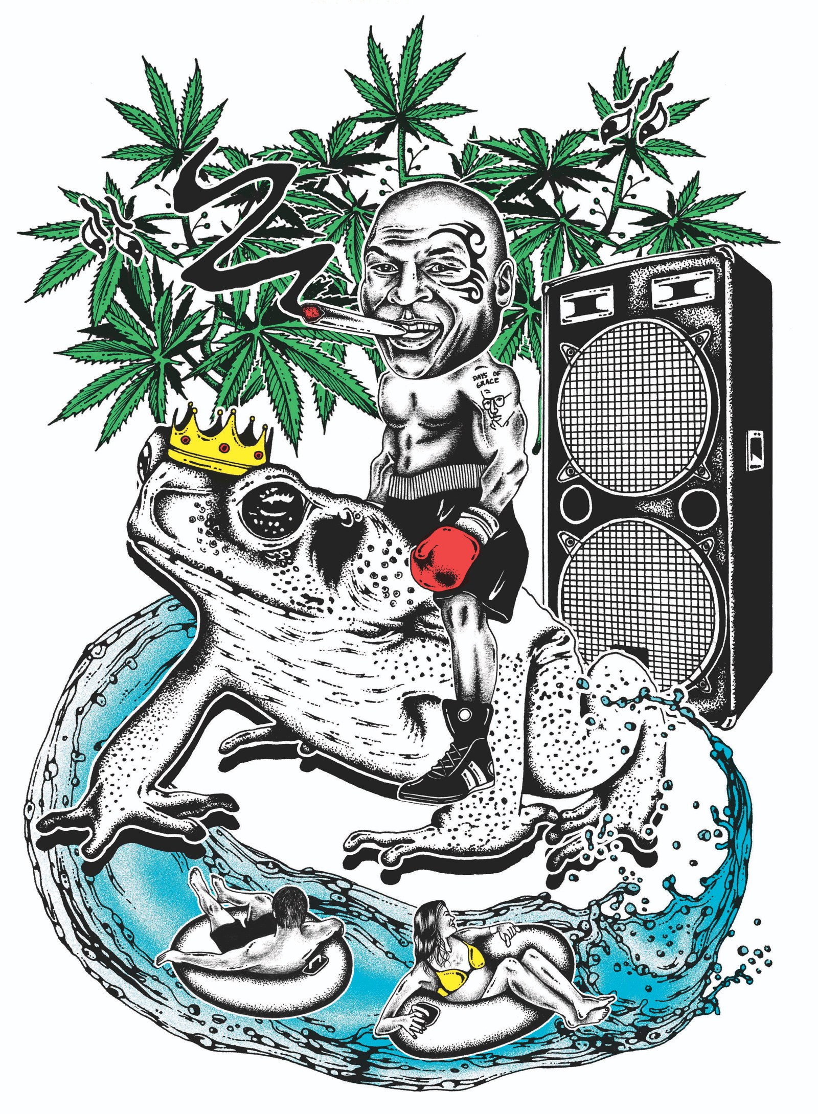 Clipart marajuana in an outdoor garden setting with hills clip art royalty free download Mike Tyson\'s Weed Resort: The Former Champ Smokes the Toad | GQ clip art royalty free download