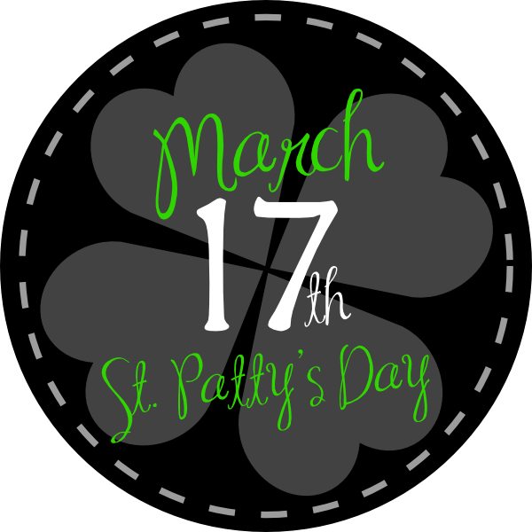 Clipart march17 picture royalty free library St Patricks Day Button Black Clip Art at Clker.com - vector clip art ... picture royalty free library