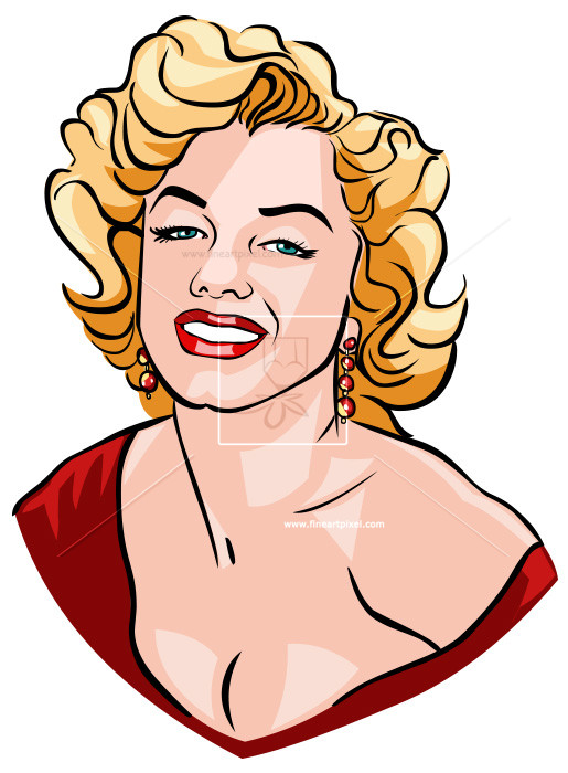 Clipart marilyn monroe picture black and white stock Marilyn Monroe   Free vectors, illustrations, graphics, clipart, PNG ... picture black and white stock