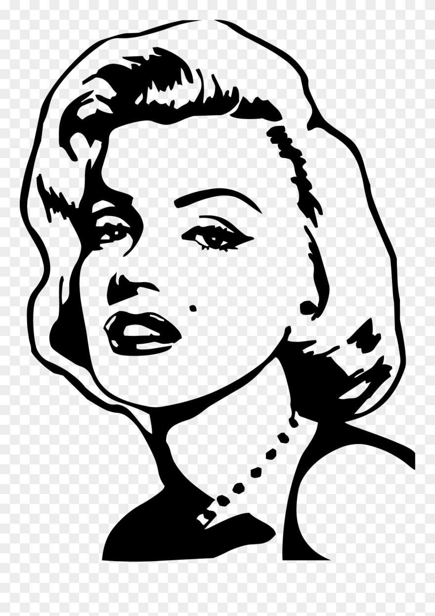Clipart marilyn monroe png library download Actor Clipart Chair - Marilyn Monroe Drawing Outline Easy - Png ... png library download