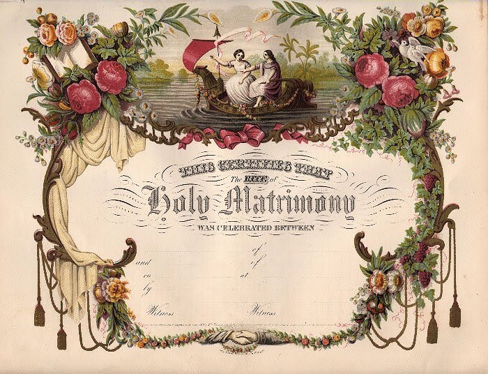 Clipart marriage certificate form clip stock Amazing Victorian Blank Marriage Certificate! - The Graphics Fairy clip stock