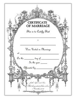 Clipart marriage certificate form clip library stock Keepsake marriage certificate template free download   How To Be A ... clip library stock